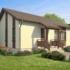 Проект дома из сип панелей 56 м2 вид спереди