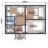 Проект дома из сип панелей 56 м2 планировка