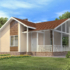 Проект дома из сип панелей 62 м2 вид спереди