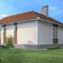 Проект дома из сип панелей 62 м2 вид сзади
