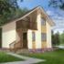 Проект дома из сип панелей 76 м2 вид спереди