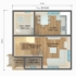Проект дома из сип панелей 76 м2 планировка 1 этажа