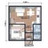 Проект дома из сип панелей 107 м2 план 1 этажа
