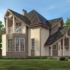 Проект дома из сип панелей 137 м2 вид спереди