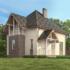 Проект дома из сип панелей 137 м2 вид сзади