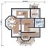 Проект дома из сип панелей 137 м2 план 1 этажа