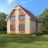 Проект дома из сип панелей 144 м2 вид сзади