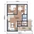 Проект дома из сип панелей 144 м2 план 1 этажа