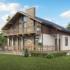 Проект дома из сип панелей 191 м2 вид спереди