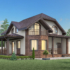 Проект дома из сип панелей 210 м2 вид спереди