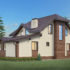 Проект дома из сип панелей 210 м2 вид сзади