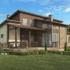 Проект дома из сип панелей 262 м2 вид спереди