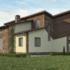 Проект дома из сип панелей 262 м2 вид сзади