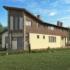 Проект дома из сип панелей 262 м2 вид сбоку