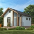 Проект дома из сип панелей 28 м2 вид спереди