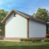 Проект дома из сип панелей 28 м2 вид сзади