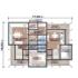 Проект дома из сип панелей 318 м2 план 1 этажа