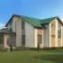 Проект дома из сип панелей 448 м2 вид сзади
