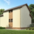 Проект дома из сип панелей 70 м2 вид сзади