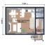 Проект дома из сип панелей 70 м2 планировка 1 этажа